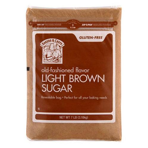 Bakers & Chefs Light Brown Sugar - 7 lb. bag