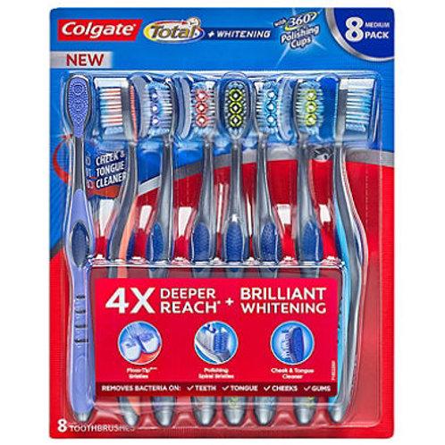 Colgate Total Whitening Toothbrush, 8 pk.