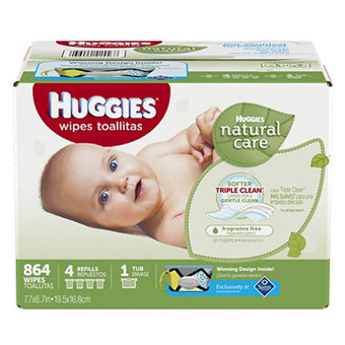 Huggies Natural Care Baby Wipes, Refill 864 ct.
