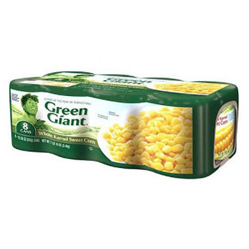 Green Giant Whole Kernel Sweet Corn 15.5oz can 8ct