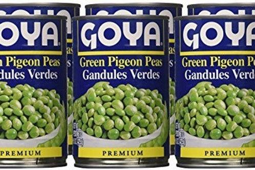 Goya Green Pigeon Peas 6/15 oz