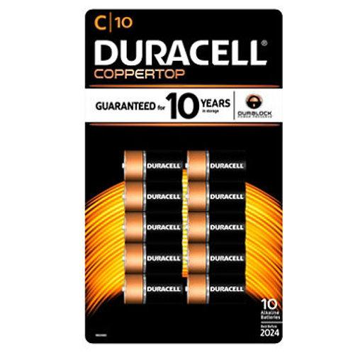 Duracell Coppertop Alkaline C Batteries (10 Pk.)