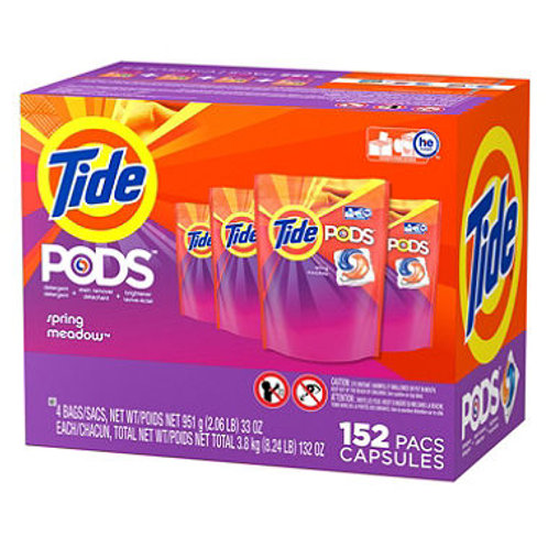 Tide Pods Laundry Detergent, Spring Meadow 152 ct