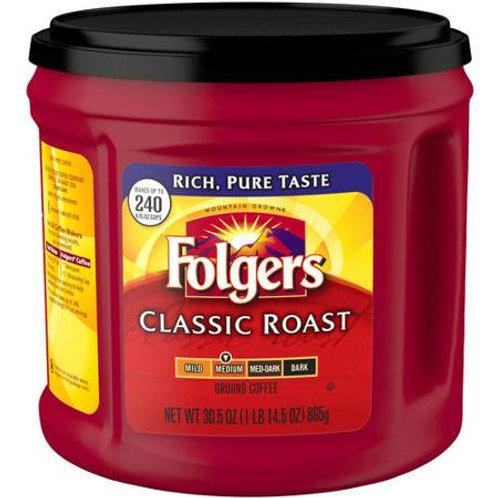 Folgers Medium Classic Roast Ground Coffee 33.9 oz