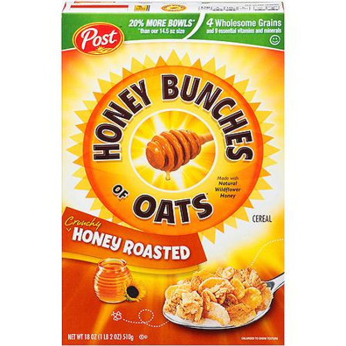 Post Honey Bunches of Oats Honey Roasted, 18 oz