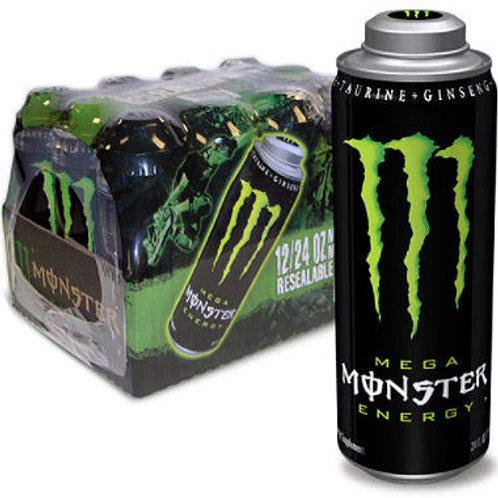 Mega Monster Energy 24 oz. can, 12 pk
