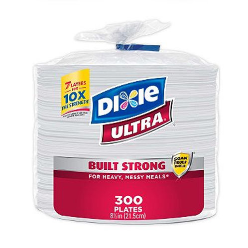 """Dixie Ultra Paper Plates, Heavyweight, 8 1/2"""" 300 ct."""