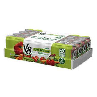 V8 100% Vegetable Juice, Low Sodium, 5.5 48 pk