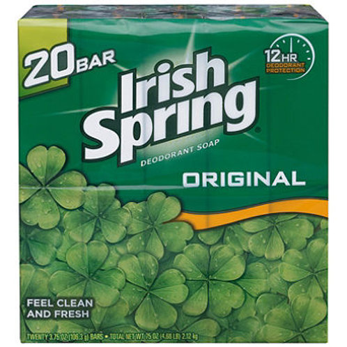 Irish Spring Deodorant Soap - 3.75 oz. - 20 ct.