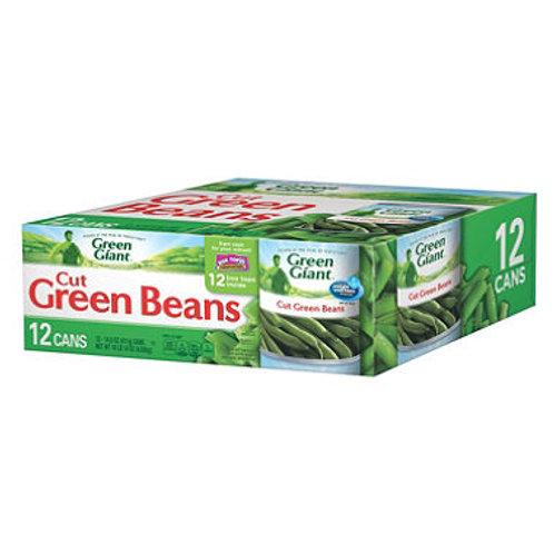 Cut Green Beans 14.5 oz. can, 12 ct.