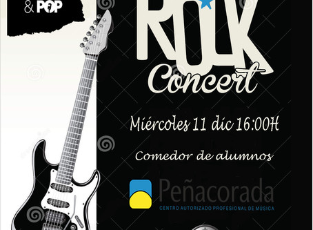 Rock concert at school.