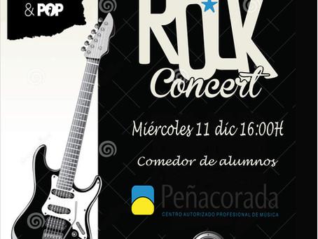 Rock concert at school.