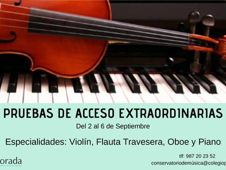 PRUEBAS DE ACCESO EXTRAORDINARIAS.