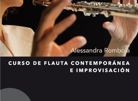 Curso de flauta contemporánea e improvisación. Viernes 13 y sábado 14 de diciembre.