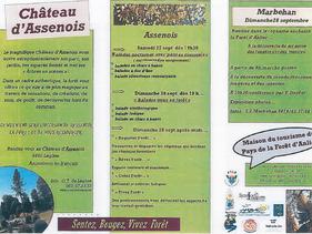 WE 27&28 septembre 2014 - visite du parc du Château d'Assenois et de la forêt d'Anlier