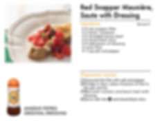 # recipeサイト DS_Red snapper meunière, sau