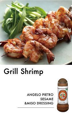 # recipeサイト SESAME&MISO_Grill shrimp_アート