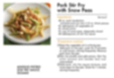 # recipeサイト SESAME_Pork Stir Fry with Sn