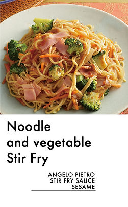 # recipeサイト SESAME_Noodle and vegetable