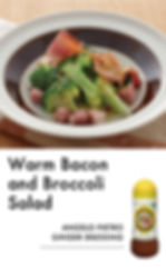 # recipeサイト Ginger_Warm bacon and brocco