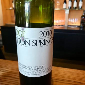 Ridge - Top californian wines 2019