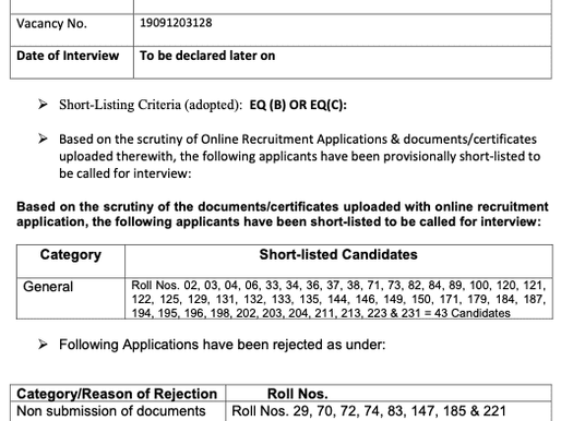 UPSC-Drug Inspector(Unani) Recruitment 2019 Update: Shortlisted candidates list released, check here