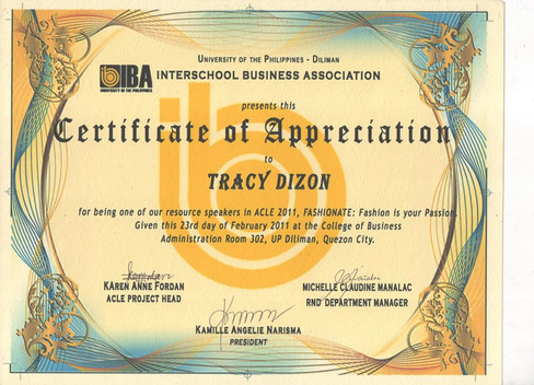 2011 UP Diliman College of Business Admi