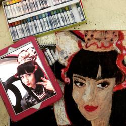 Fashion Editor, Misha Janette Potrait, Tracy Dizon 2015 Oil Pastel