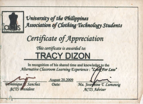 2009 UP Diliman College of Home Economic