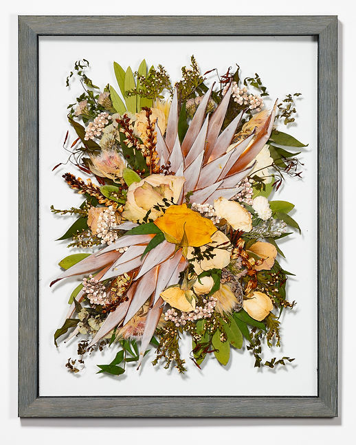 pressed bouquet wedding flowers