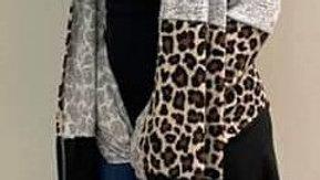 Tri color Leopard Print Cardigan