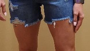 YMI Distressed Blue Denim Short