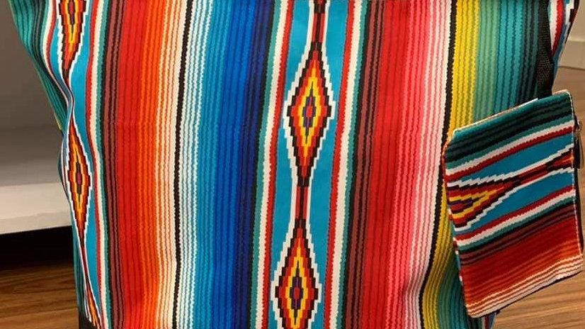 Multi color Sarape Tote