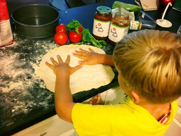 How to make the dough, pizza dough that is.