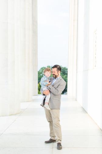 Washington D.C. family photos on the National Mall