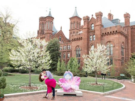 Smithsonian Castle Engagement Session | Washington D.C. | Elle & Tim