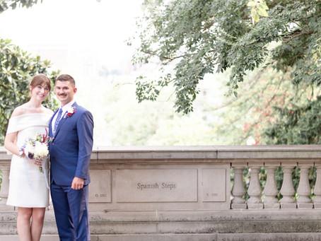 Spanish Steps Micro Wedding   Washington D.C.   Emily + Nick