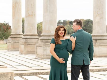 Maternity Session at National Arboretum in Washington D.C. | Tracy + David