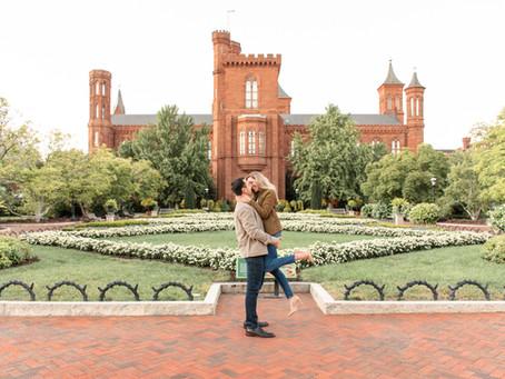 Smithsonian Castle Engagement | Washington D.C. | Rachel + Jose