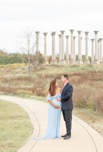 Maternity Photos at National Arboretum in Washington D.C.
