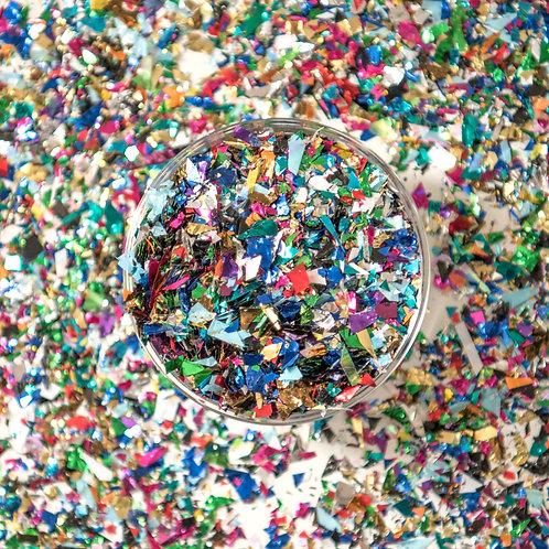Multi Colored Confetti Scattered Flakes