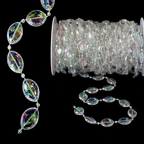 Large Oval Bead Roll: Iridescent BEADPC75