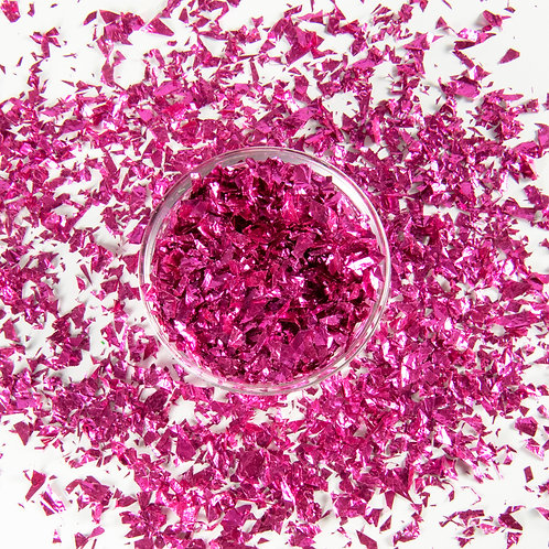 Cracked Ice Cerise Confetti Scattered Flakes