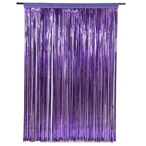 Purple Cracked Ice Fringe Curtain