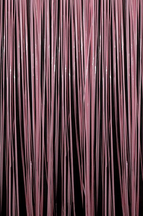 Semi-Gloss (Plastic Wet Look) Pink Fringe Curtain