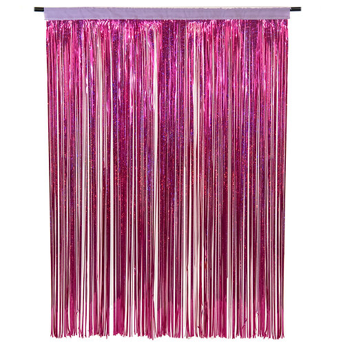 Diffraction (Holographic) Fuchsia Photobooth Curtain