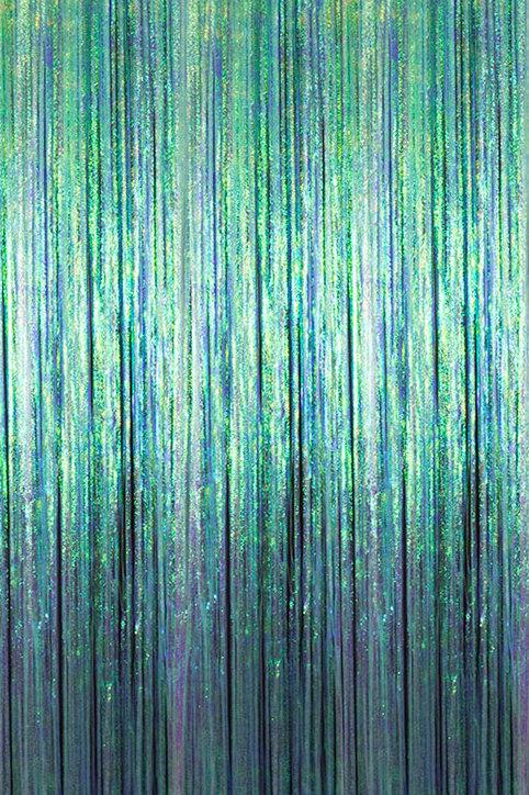 Iridescent Cracked Ice Fringe Curtain