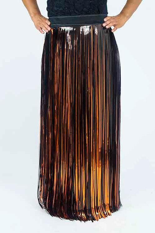 Copper and Black Fringe Skirt