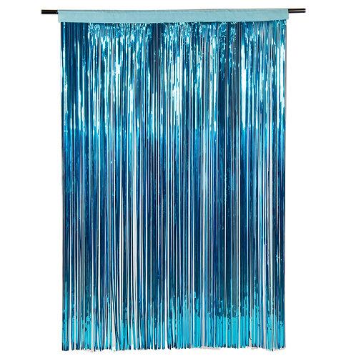 Metallic Ice Blue Photobooth Curtain
