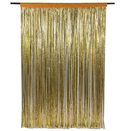 Cracked Ice Gold Photobooth Curtain